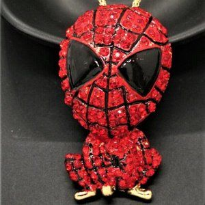 Jewelry - NEW 3D Amazing Spiderman Crystal Necklace
